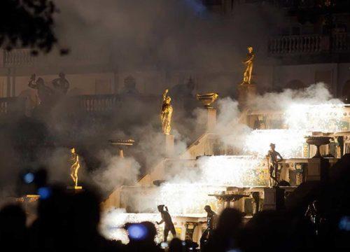 Закрытие сезона фонтанов в Петергофе